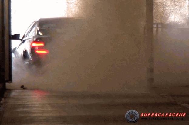 Mercedes C63 AMG Black Series burnout