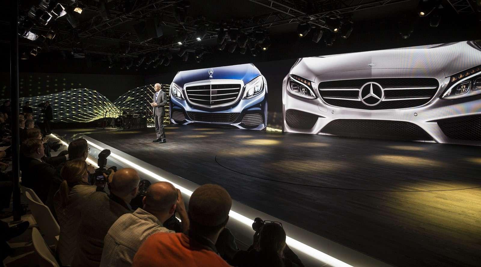 Mercedes Benz C-Class 2015 Live Photos from Detroit 2014
