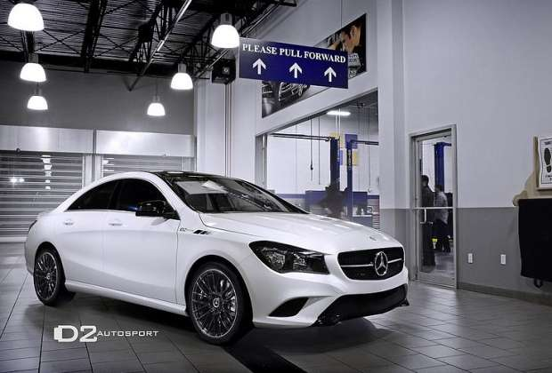 Mercedes CLA po tuningu