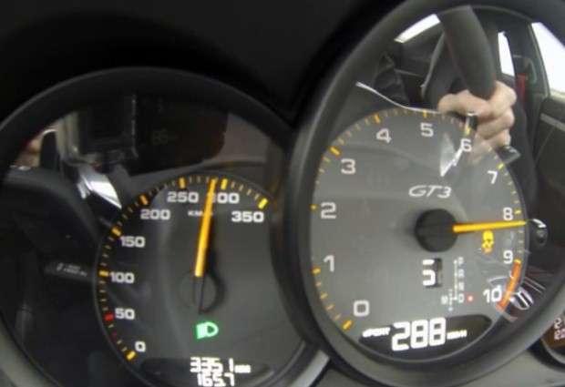 Porsche 911 GT3 licznik
