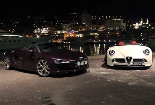 Alfa Romeo 8C vs Audi R8 V10