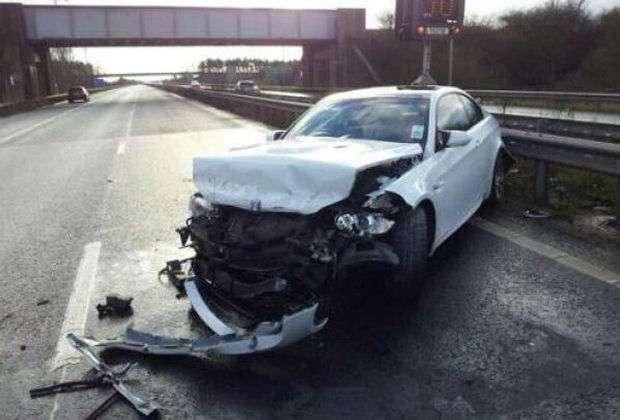 BMW M3 crash