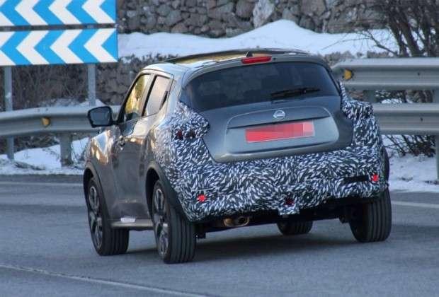 Nissan Juke facelift 2015 spy
