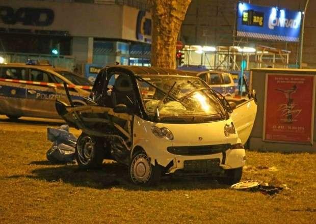 Smart Fortwo crash