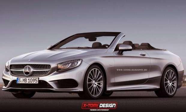 Mercedes Klasy S Cabriolet rendering