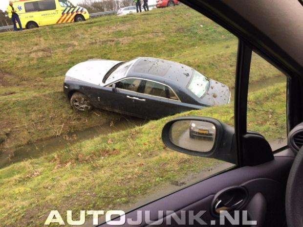 Rolls-Royce Ghost crash