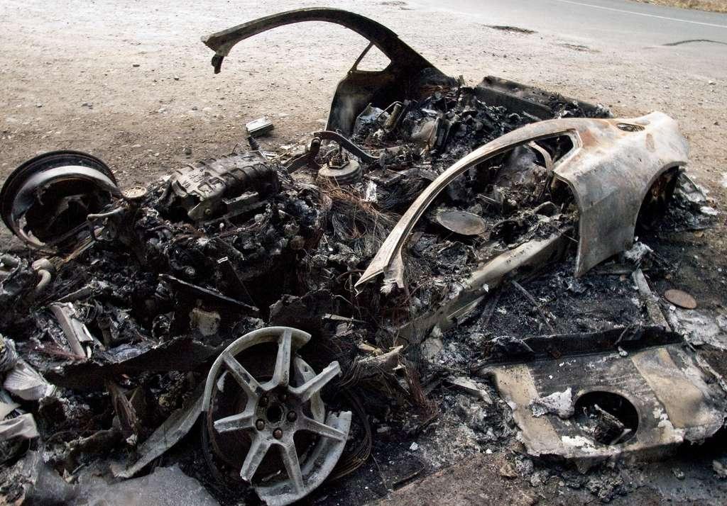 Aston Martin V8 fire