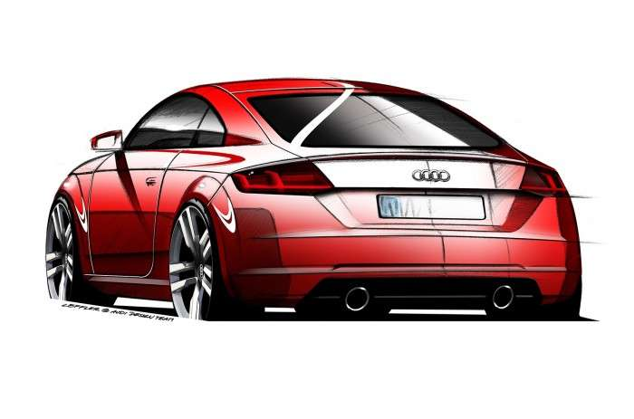 Audi TT 2015 rysunki