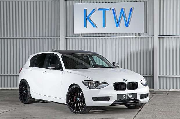 BMW 116i KTW tuning white