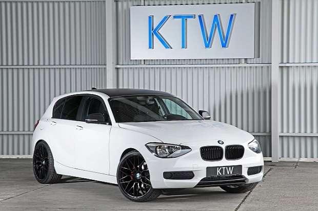 BMW 116i KTW tuning white