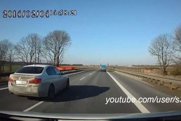 BMW 5 F10 wyprzedzanie