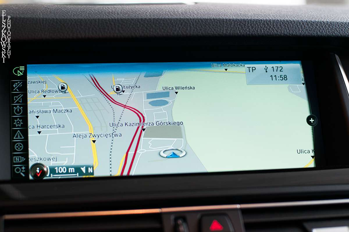 iDrive BMW navigation system
