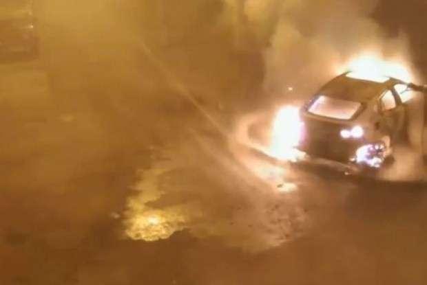 BMW X6 fire
