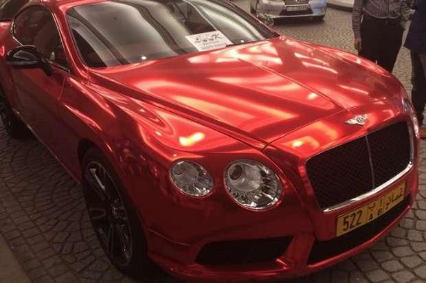 Chrome Bentley GT