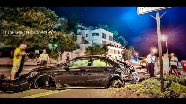Mercedes CLA 45 AMG crash