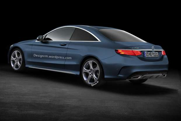 Mercedes-Benz C Coupe W205 rendering