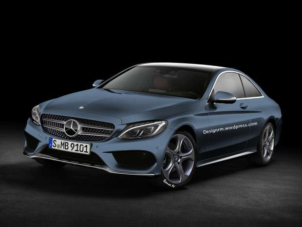 Mercedes-Benz klasy C Coupe W205 rendering