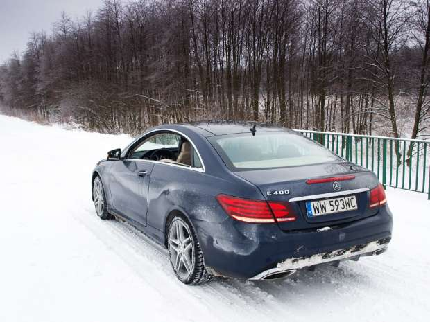 Mercedes E400 Coupe winter