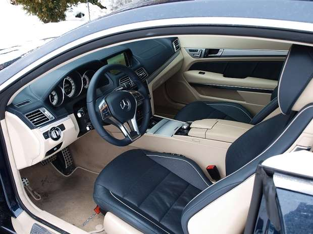 Mercedes E400 Coupe interior