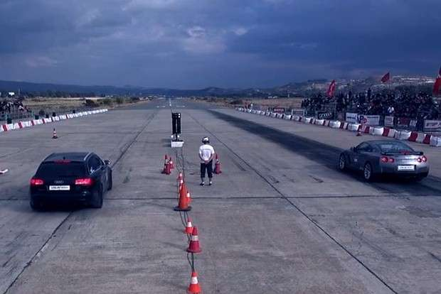 Drag Times Audi RS6 Nissan GT-R