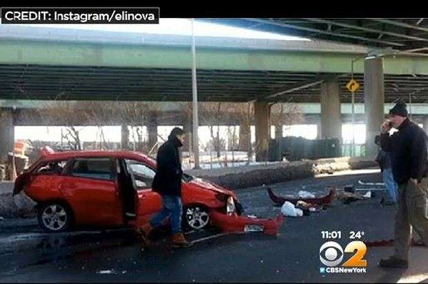 Toyota Matrix crash