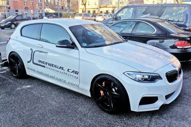 BMW M135i with BMW M235i Coupe front