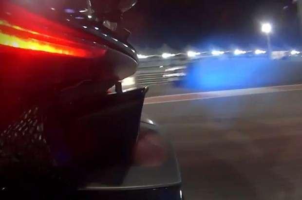 McLaren P1 fire