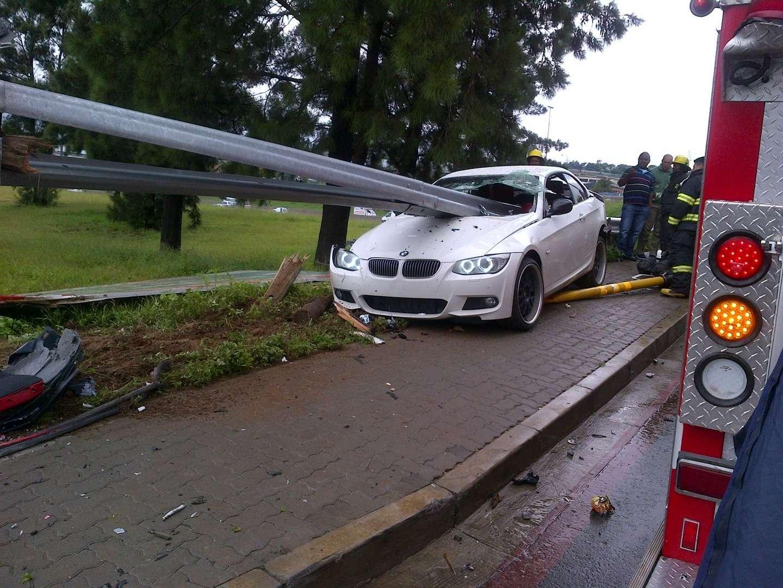 BMW 335i crash