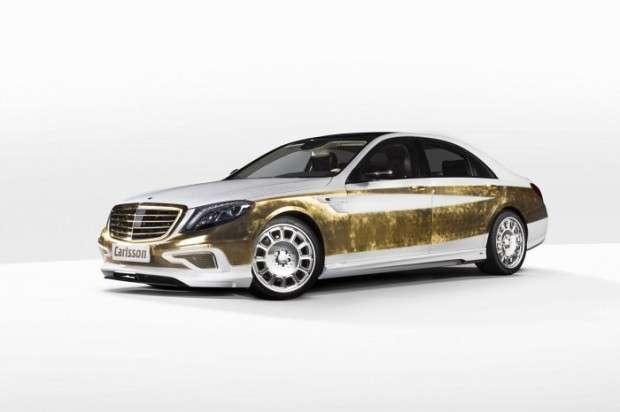 Mercedes Klasy S ze złota