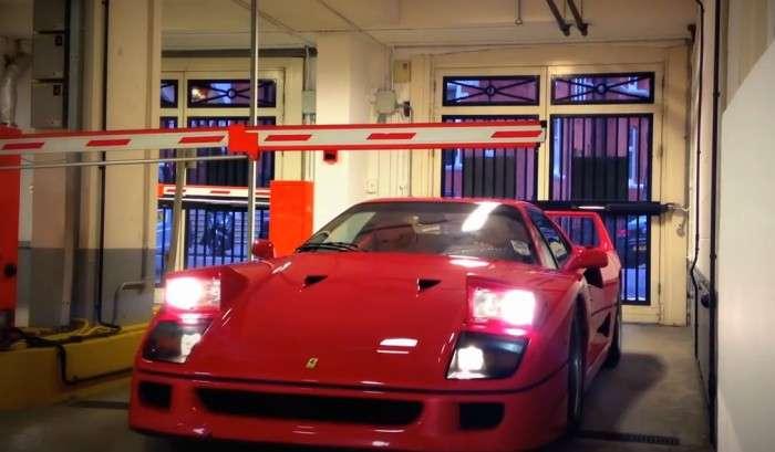 Ferrari F40 szlaban