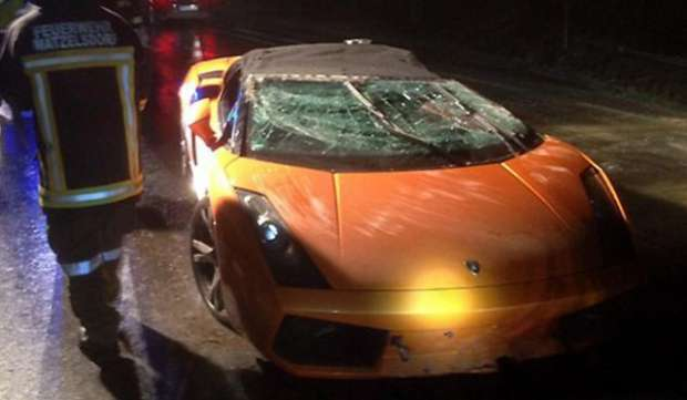 Lamborghini Gallardo Spyder crash