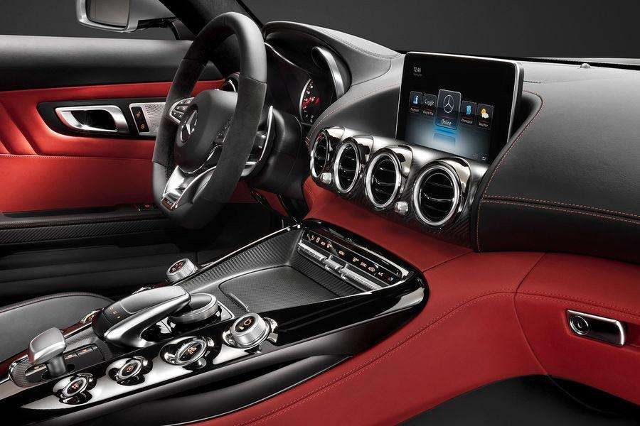 Mercedes AMG GT 2015 interior leaked photo