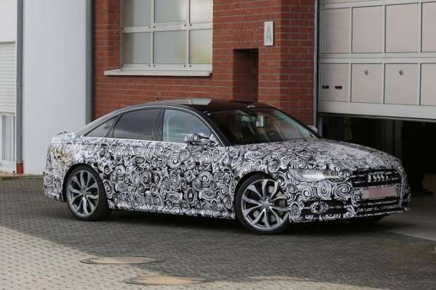 Audi S6 Facelift spy 2015