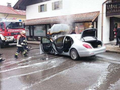 Mercedes S W222 fire pożar