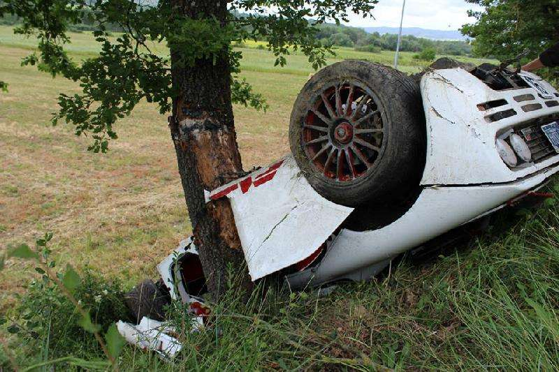 McLaren F1 crash Rowan Atkinson