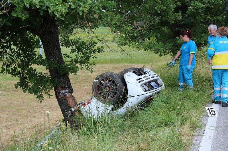 McLaren F1 crash Rowan Atkinson