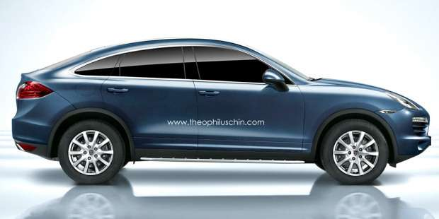 Porsche Cayenne Coupe rendering