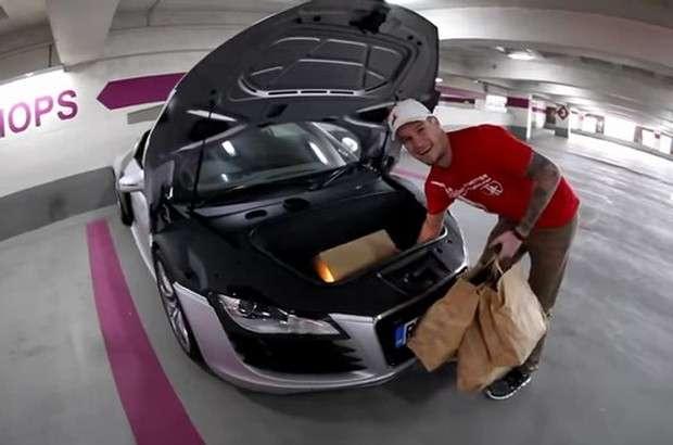 Audi R8 bagażnik
