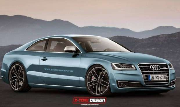 Audi A8 Coupe rendering