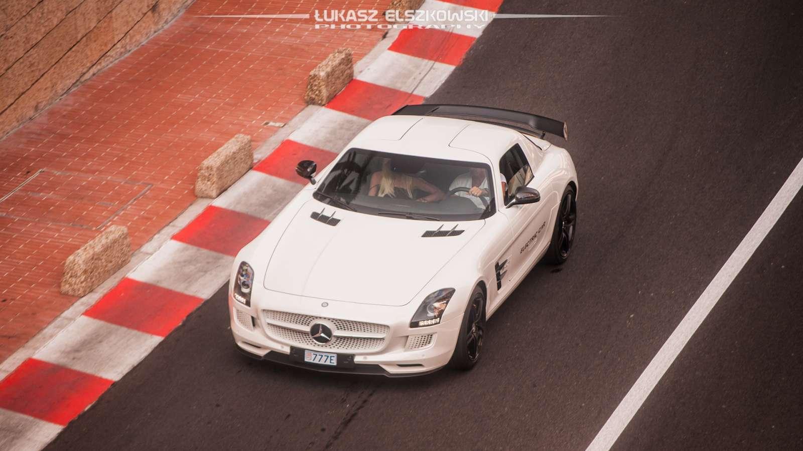 Mercedes SLS AMG electric Monaco