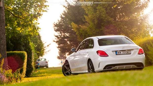 Mercedes C200 rear view
