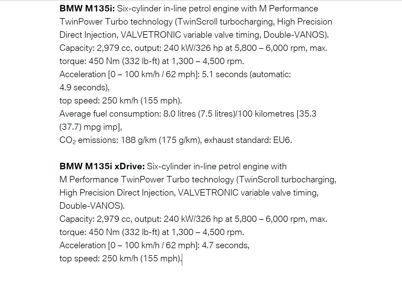 2015 BMW M135i Facelifting