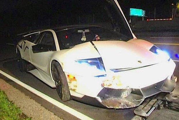 Lamborghini Murcielago SV crash