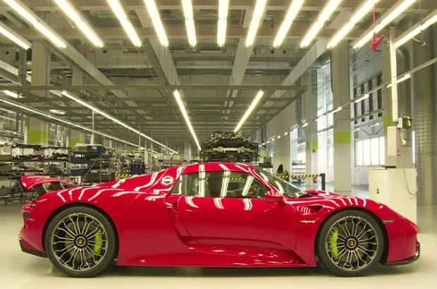 Porsche 918 Spyder production