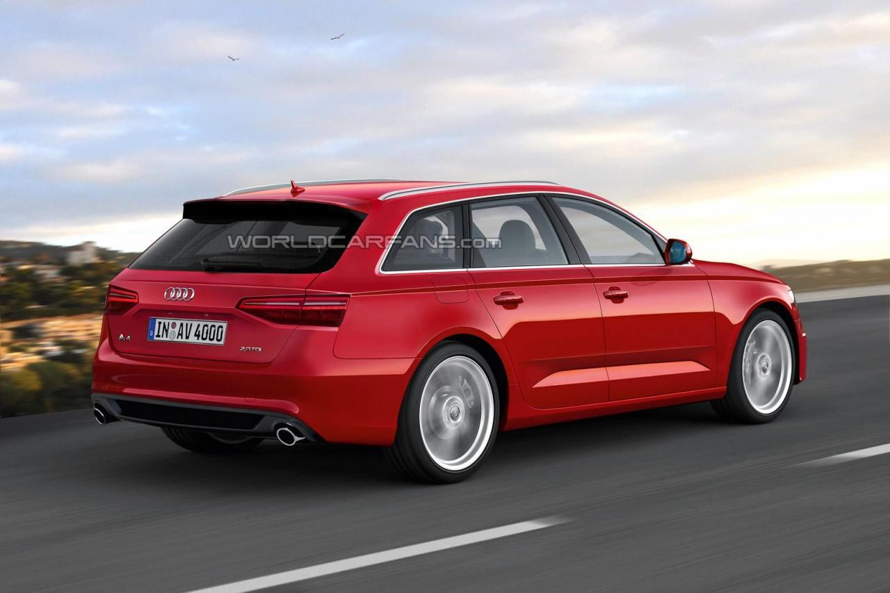 Audi a4 b9 rendering