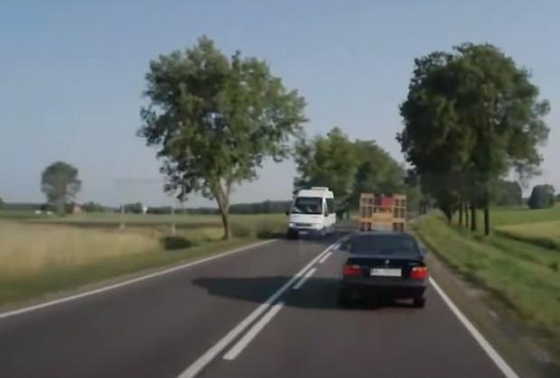 BMW 3 wyprzedzanie