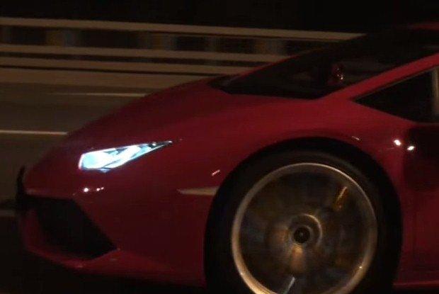 Lamborghini Huracan drag race