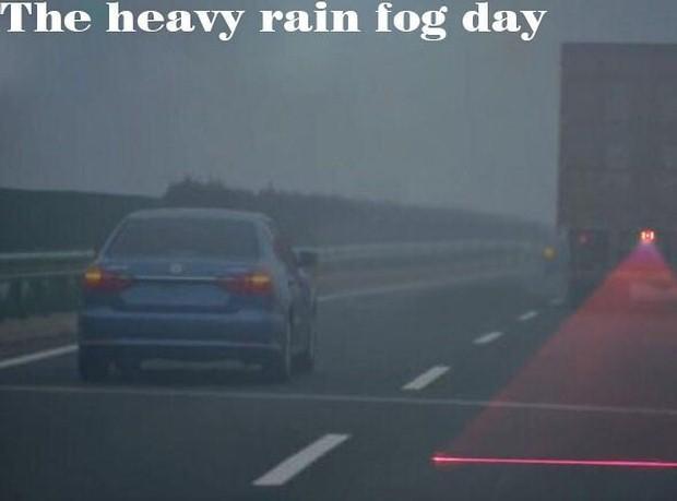 Laser za ciężarówką