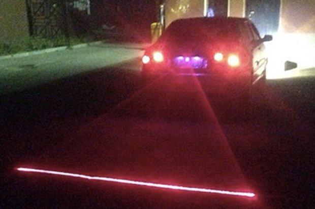 Laser za samochodem