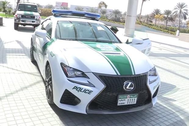 Lexus RC-F dubai police
